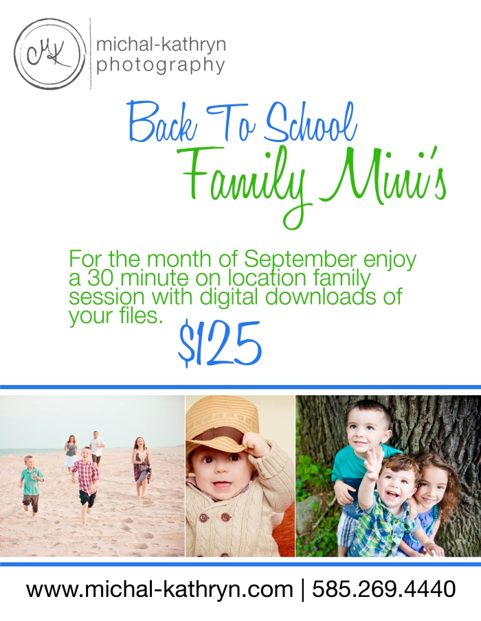 Back to School Family Photography special